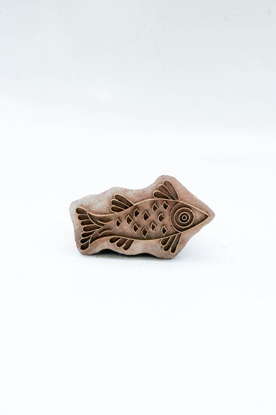 Indian Wood Stamps Fish 178 by TATAindianwoodstamps on Etsy, $14.95