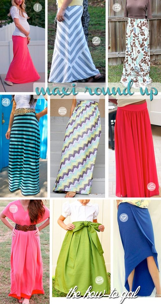 Easy Maxi Skirt DIYs @ Do It Yourself Pins