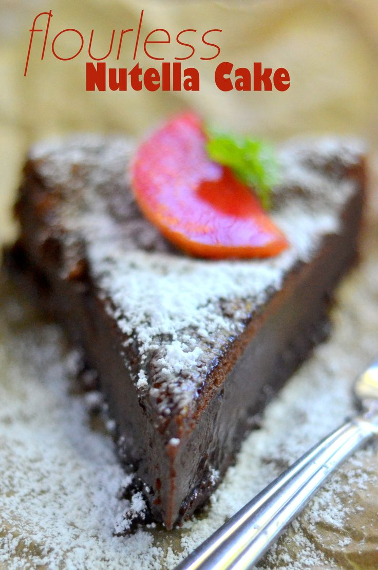 If you love Nutella, this is the cake for you! #GlutenFree
