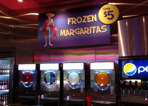 Margarita machine at Rockin Taco in Las Vegas, Nevada. Just like a 7 Eleven Icee machine!