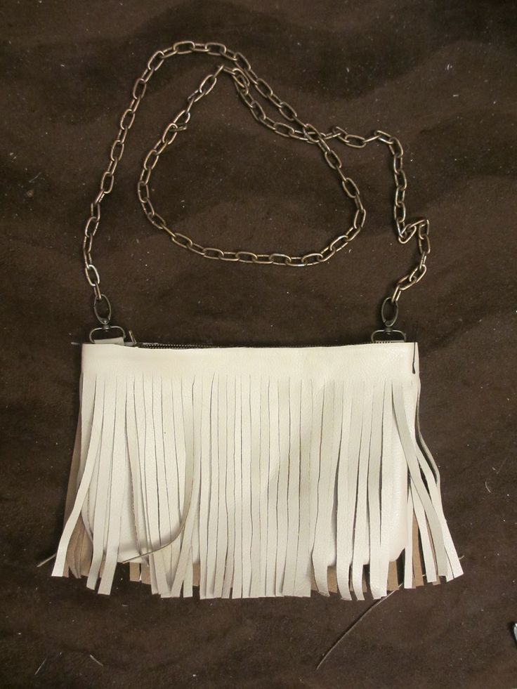 Leather Fringe Purse   DIY: Leather Fringe Crossbody Bag