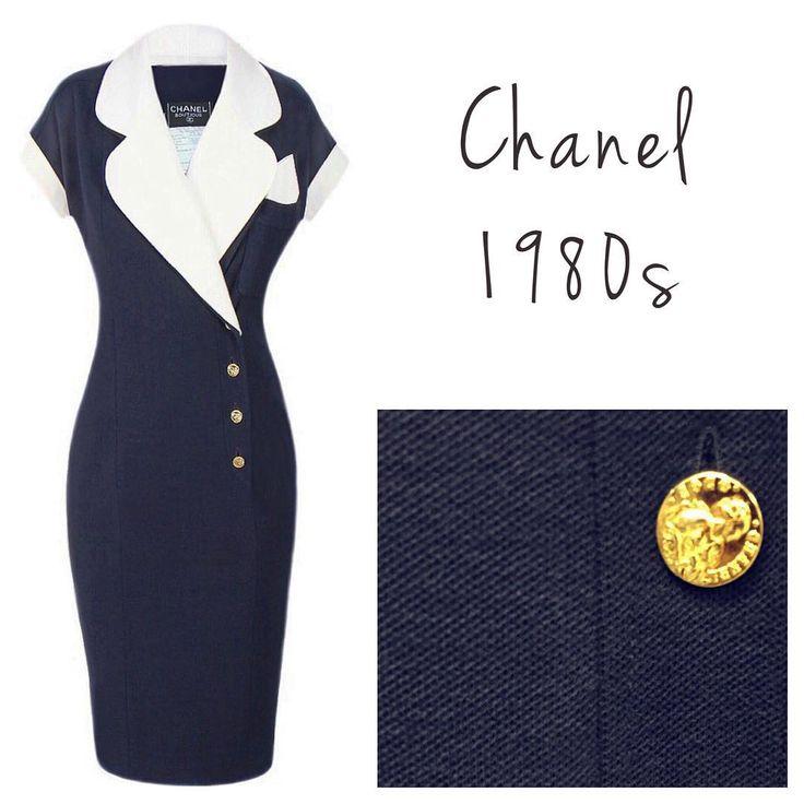 ✨Chanel Navy Dress, 1980s. Size M. ✨Классическое платье Chanel, 1980-е годы. Размер М. #vintagevoyage #vintage #chanel #vintagechanel #chanelvintage #onlineshop #vintagedress #vintagestore