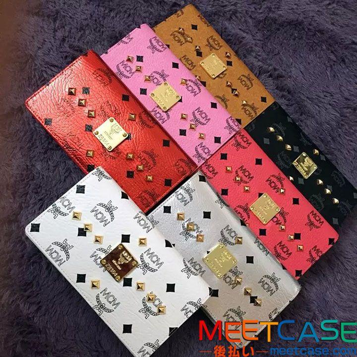 韓国 MCM アイフォン7 7plusケース バッグ型 ギャラクシーs7 s7edgeカバー お財布兼用 エムシーエム iphone6sケース レザー galaxy xperia全機種通用 大容量 女性用