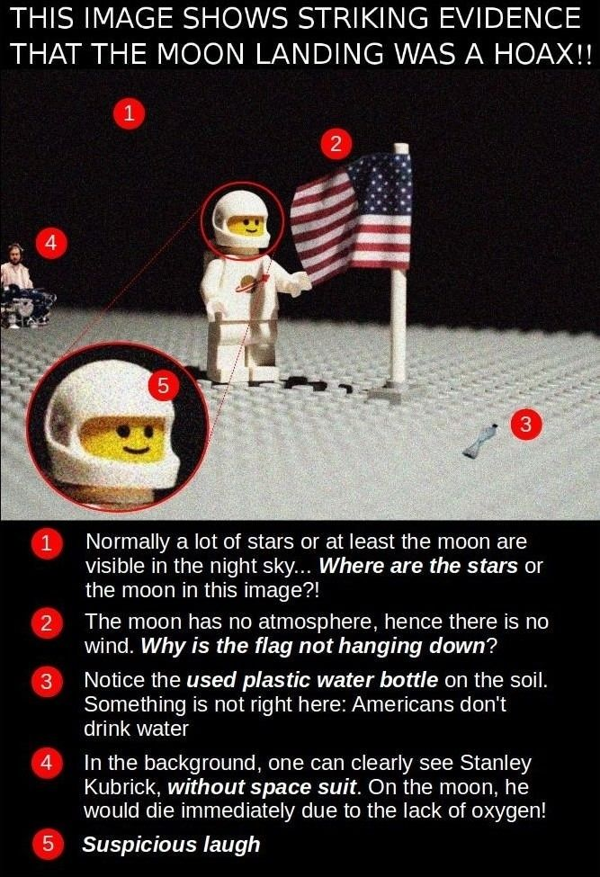 Moon landing is a hoax  - funny pictures #funnypictures