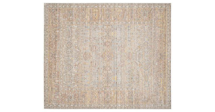 This soft traditional rug grounds any space with traditional design and refreshing hints of color. We recommend a rug pad to keep the rug securely in place and provide an extra layer of cushioning.