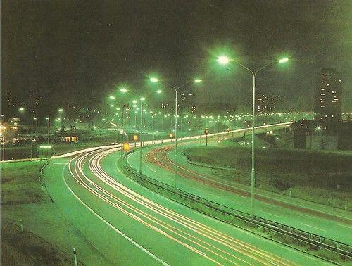 Noční Praha, 70. léta (foto M.Šnajdr)