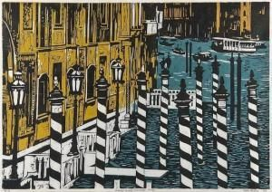 Rigby Graham - Grand Canal, Venice 52 x 75 cm 1986