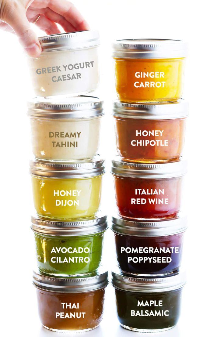 Eine Sammlung meiner 10 Lieblingsrezepte für den täglichen Salatdressing – Griechische Joghurtc …   – Gimme Some Oven
