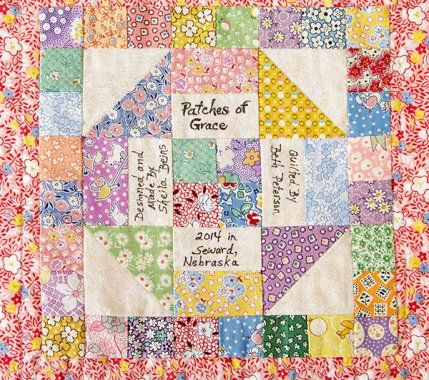 Creative Quilt Label Ideas AllPeopleQuilt.com Love this idea for a label. Sewing/Quilting ...