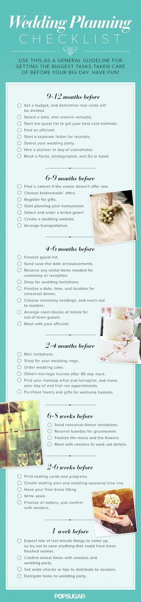 25+ ide terbaik Wedding planning checklist di Pinterest - wedding list