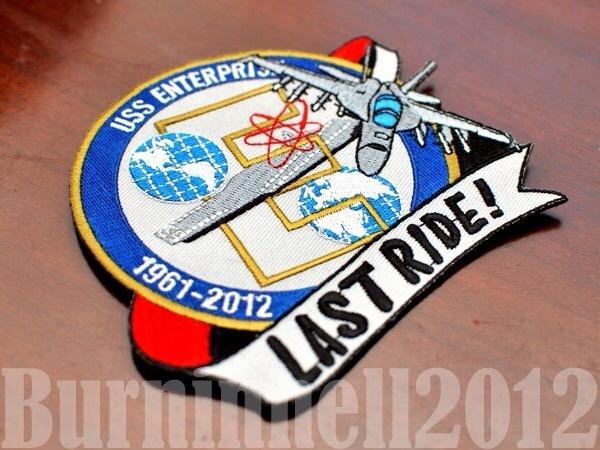 USS Enterprise CVN 65 Last Cruise Patch 1961 2012   eBay