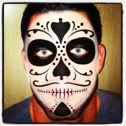Day of the dead Ideas #dayofthedead me #Halloween #facepaint