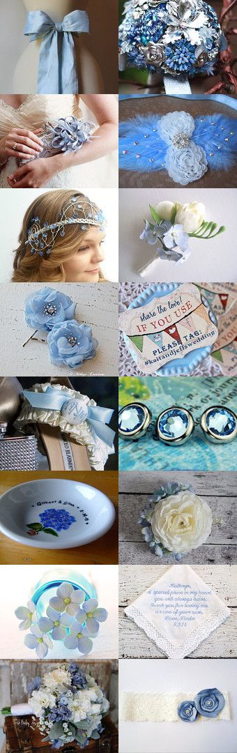 ♥Something Blue Wedding♥ by Ruth on Etsy--Pinned with TreasuryPin.com