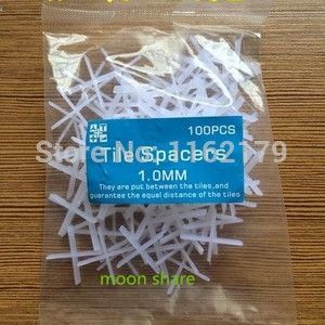 100pcs/lot 1.0mm PE  Wedges Floor Wall Tile Leveling System Tile Spacers Bulding Tool 6mm Green Ideal for variable free shipping