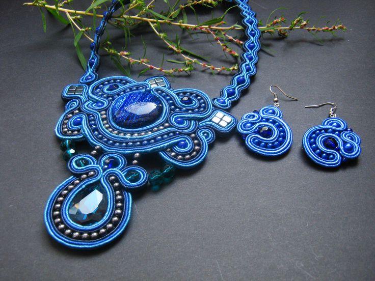 soutache necklace & earrings