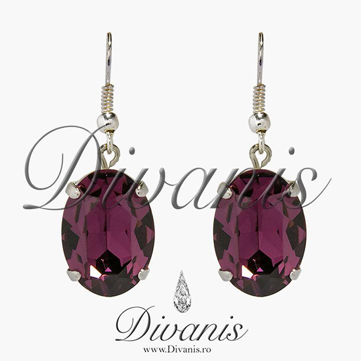 Amye Earrings with Swarovski crystals