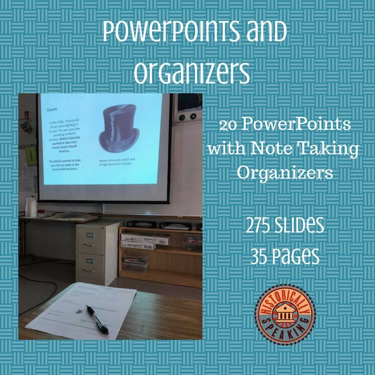 US History: PowerPoints and Note Organizers   school