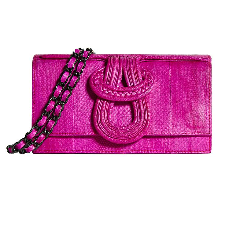 Our iconic NELL SNAKE now in brightest Bubblegum pink exotic snakeskin.
