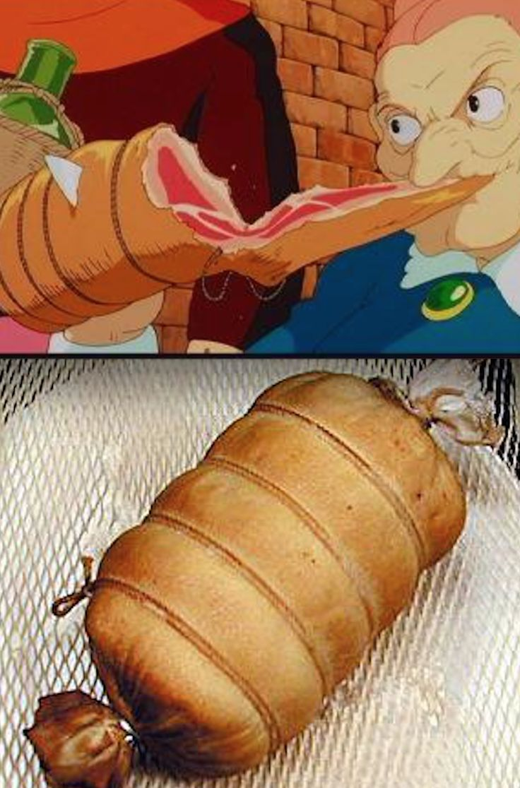 Castle in the Sky dora roll of ham. | ANIME food ...