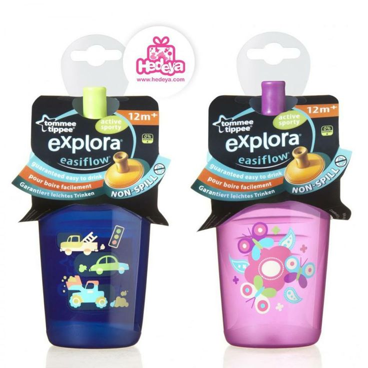 #Active_Sporty_Cup   Brand: #Tommee_Tippee  Short description:  Our Explora Active Sporty has been specifically designed to mimic a sports style water bottle. There is no need for any fiddly push/pull action on the spout: it just seals automatically after drinking due to the unique Easiflow technology making it truly non-spill Dimensions :8 x 8 x 16.5 cm  #Hedeya #hedeyastores #toys #gifts code:479  Price:91