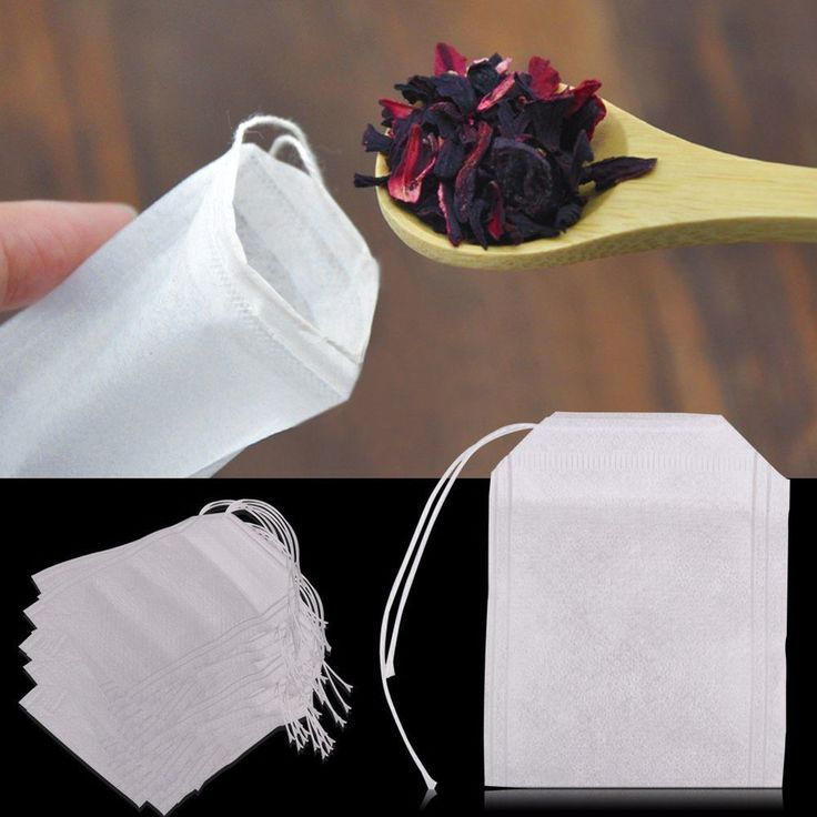 Size: from 5.5 x 7cm. These bags are used for filling with 3 ~ 8g mixture of tea or dry herb or plants. Suitable for tea, spice and herbal powderPackage included:100pcs Empty Tea Bags. | eBay! $2.89 per 100 bags.