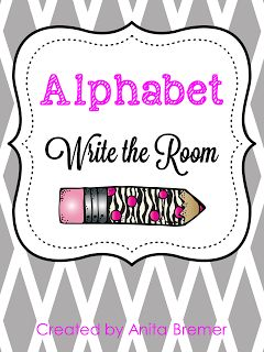 Mrs. Bremer's Kindergarten: FREE Write the Room Pack and More Literacy Activities
