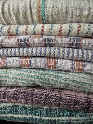 Ode to Khadi, a very special Indian cotton fabric | Muted pattern | Folk weave | Material stack | Layering