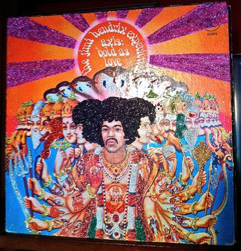 Glittered Live Jimi Hendrix Experience Album - eclectic - Sports And Game Room Memorabilia - mmm designs