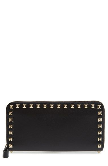 Valentino 'Rockstud' Continental Wallet available at #Nordstrom