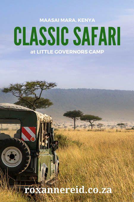 Classic safari at Little Governors Camp in Kenya's Maasai Mara
