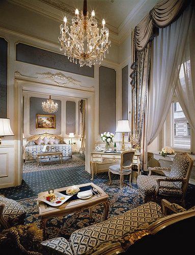 Love this sitting room, opulent suite