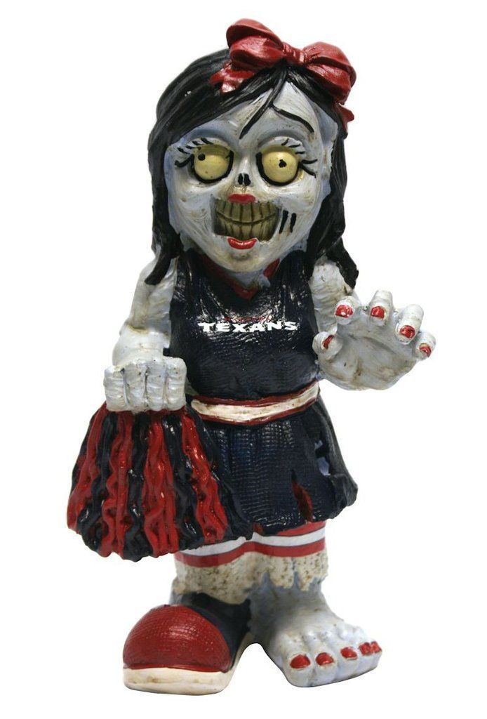 Houston Texans Zombie Cheerleader Figurine
