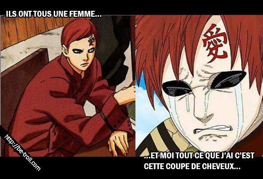 Ils ont tous une femme... et moi tout ce que j'ai c'est cette coupe de cheveux...  #Gaara #Naruto