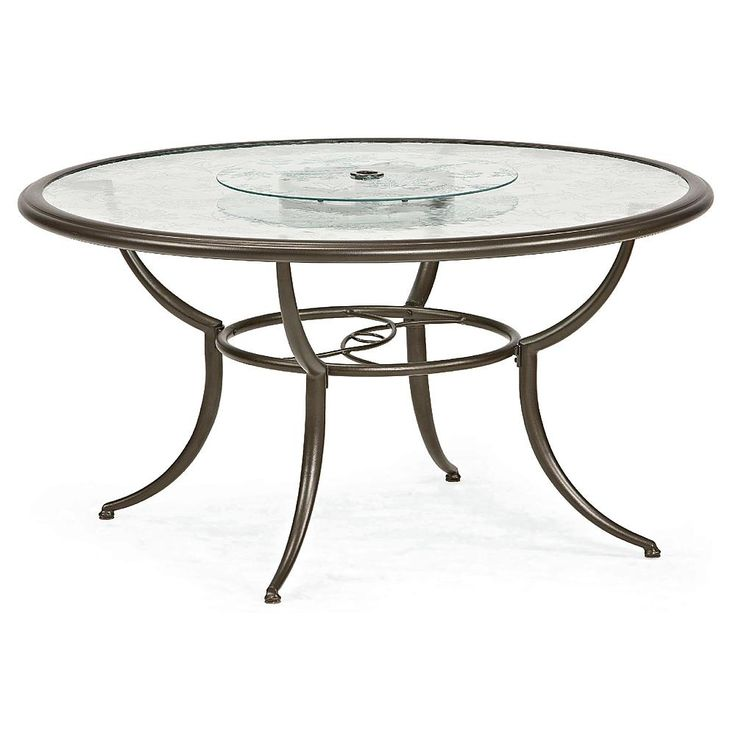 Jaclyn Smith Cora Dining Table with Lazy Susan - Outdoor ...