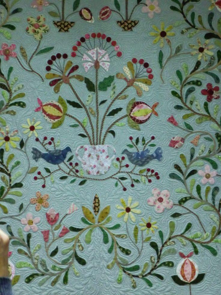 blog quilten patchwork farmer's wife quilt Mid 19th Century Star Quilt naaimachine Fig Tree Manor Graceful garden
