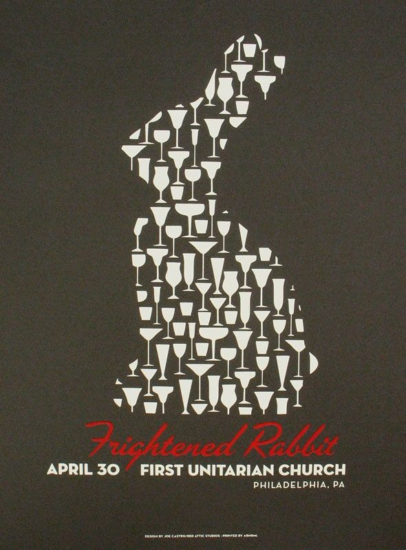 Frightened Rabbit tour poster, 'winter of mixed drinks' I take it. nice