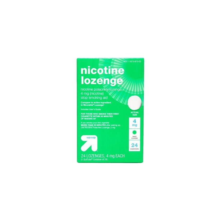 Nicotine 4mg Lozenge Stop Smoking Aid - Mint - (Compare to Nicorette Lozenge) - 24ct - up & up