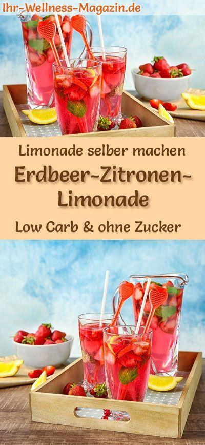 erdbeer zitronen limonade selber machen low carb ohne. Black Bedroom Furniture Sets. Home Design Ideas