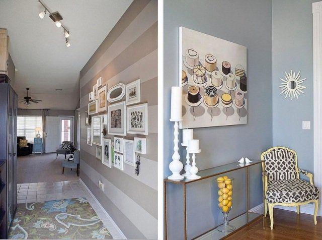 Peinture couloir et d coration de l 39 entr e 57 id es en couleurs couloi - Idee couleur couloir entree ...