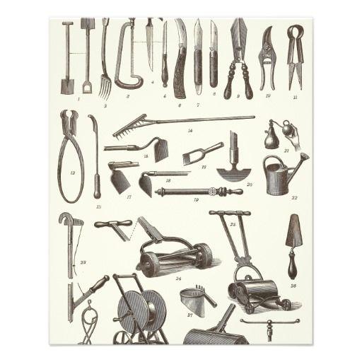 The Elegant Gardener - Antique Garden Tools