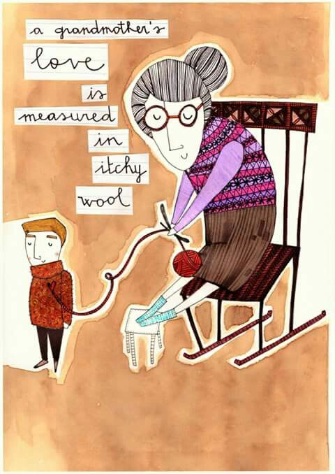 l'amore di una nonna si misura in lana pungente