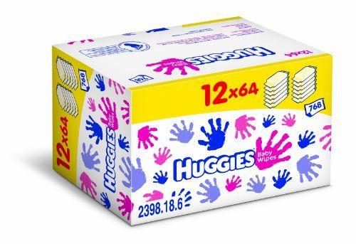 Huggies 2398185 - Toallitas de bebé (12 packs de 64)
