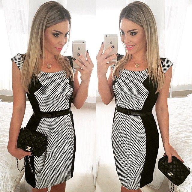Vestido de verão 2015 nova moda verão desgaste do trabalho das mulheres xadrez o Casual bainha vestido vestidos plus size