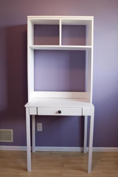 This might be a good place to start in your closet storage computer desk. and it is ok if it comes beyond the interior of the closet. Then surround with cubbies for more storage.
