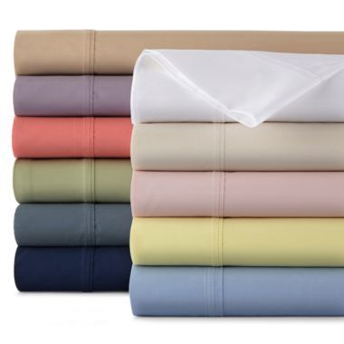 JCPenney Home™ 300tc Easy Balance Solid Sheet Set  found at @JCPenney