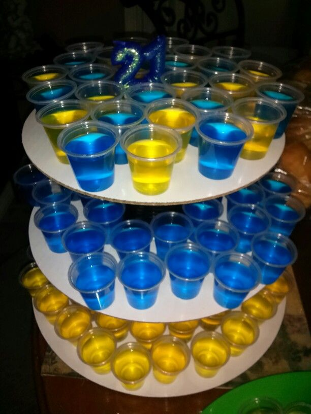 21at Birthday Jello Shot Cake L Pinterest Jello