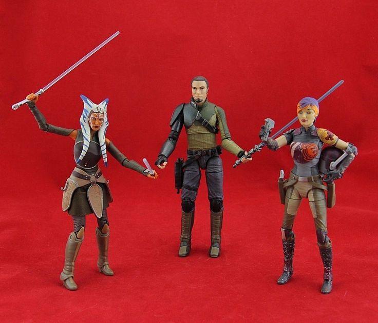 "Star Wars the Black Series 6"" Figure Lot Ahsoka Tano, Kanan Jarrus, Sabine Wren #Hasbro"