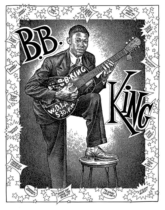 comicblah:  B.B. King by Robert Crumb