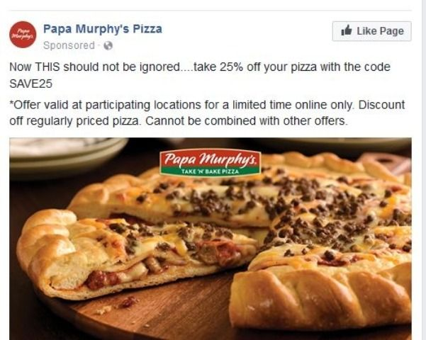 Get 25% Off When You Order Online at Papa Murphy's w/ this Dealspotr community coupon! Expires 10/31/2017.