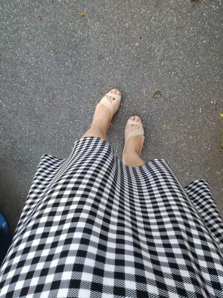 Black and white Dress Legs Shoes summer Nude